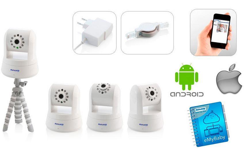 MINILAND BABY Miniland Baby Camera monitorizare SPIN IP CAM