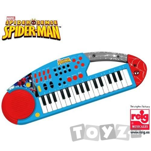 Reig Musicales Orga electronica cu microfon Spiderman 556