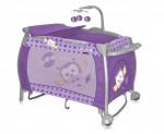 LORELLI CLASSIC Patut pliant Lorelli iLounge Rocker Violet Baby Owl