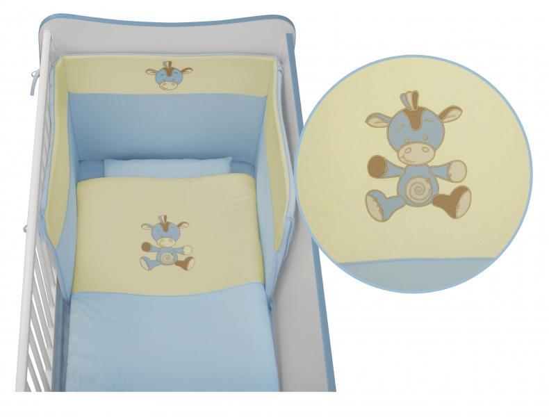 LORELLI CLASSIC Set lenjerie de pat Lorelli Jersey, Blue, 5 piese