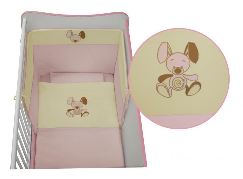 LORELLI CLASSIC Set lenjerie de pat Lorelli Jersey, Pink, 5 piese