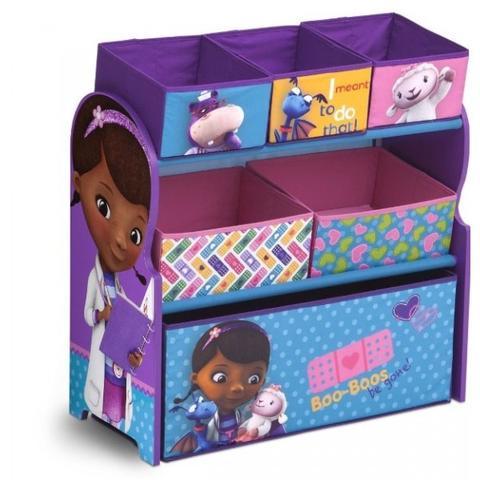 Delta Children Organizator Jucarii cu Cadru din Lemn Disney Doctorita Plusica
