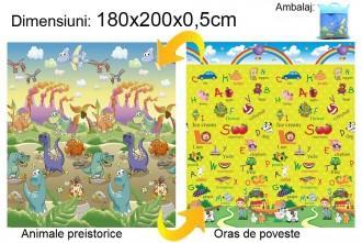 Baby Swimmer Baby Swimmer Covoras Animale preistorice/Oras de poveste 180x200x0.5cm