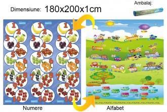 Baby Swimmer Baby Swimmer Covoras Alfabet/Numere 180x200x1cm