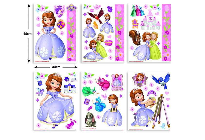 Walltastic Walltastic – Stickere decorationale Sofia Disney Intai