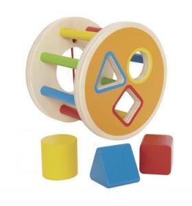 Hape Jucarie eco din lemn 1-2-3 sorteaza formele Hape