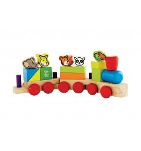 Hape Jucarie eco din lemn Trenuletul animalelor Hape
