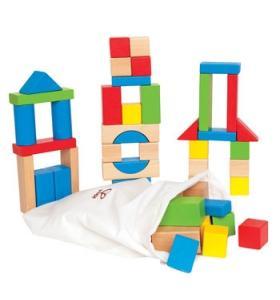 Hape Jucarie eco din lemn Cuburi pentru Construit Hape