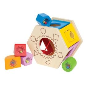 Hape Jucarie eco din lemn Shake and Match Shape Sorter Hape