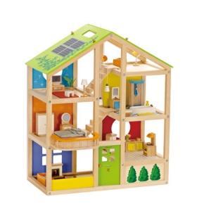 Hape Jucarie eco din lemn Casa mobilata – cu anotimpuri Hape