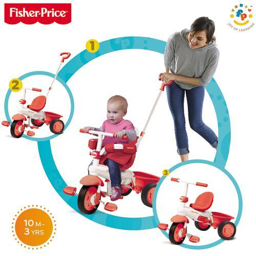 Fisher-Price Fisher-Price – Tricicleta 3 in 1 Classic Rosu