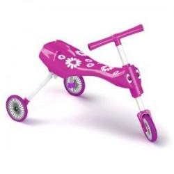 Mookie Mookie – Scuttlebug Fleur Pink/White – Tricicleta fara pedale