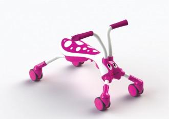 Mookie Mookie – ScrambleBug Candy Pink/White – Jucarie de calarit fara pedale