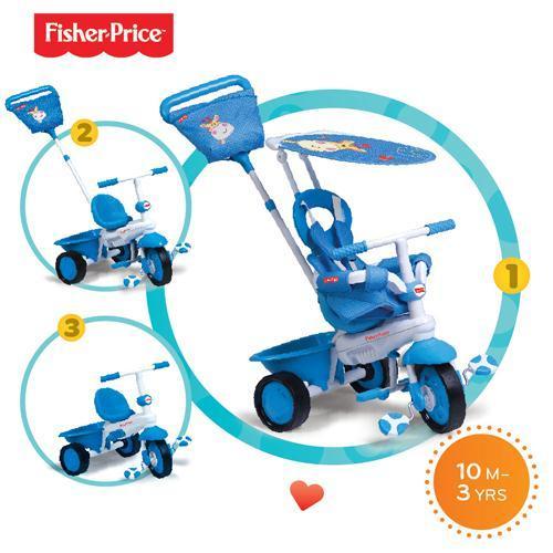 Fisher-Price Fisher-Price – Tricicleta 3 in 1 Elite Albastra