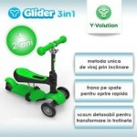 Yvolution Trotineta Glider 3IN1 Green YVolution
