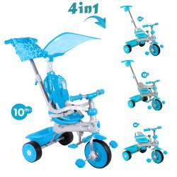 Baby Trike Tricicleta 4 in 1 Deluxe Aqua Baby Trike