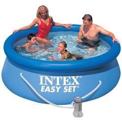 Intex Intex – Piscina Easy Set cu Pompa de Filtrare 244 x 76 cm