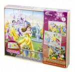Puzzle de lemn Disney Princess, 3 buc