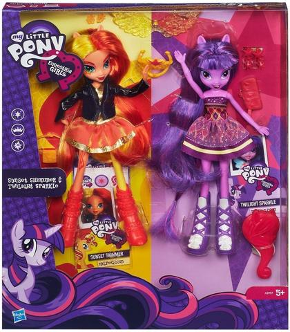 My Little Pony My Little Pony – Set 2 Papusi Sunset Shimmer si Twilight Sparkle