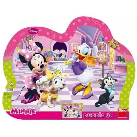 DINO TOYS Puzzle cu rama Minnie si prietena Daisy (25 piese)