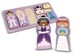 MELISSA&DOUG Puzzle din lemn- Sa imbracam fetitele!
