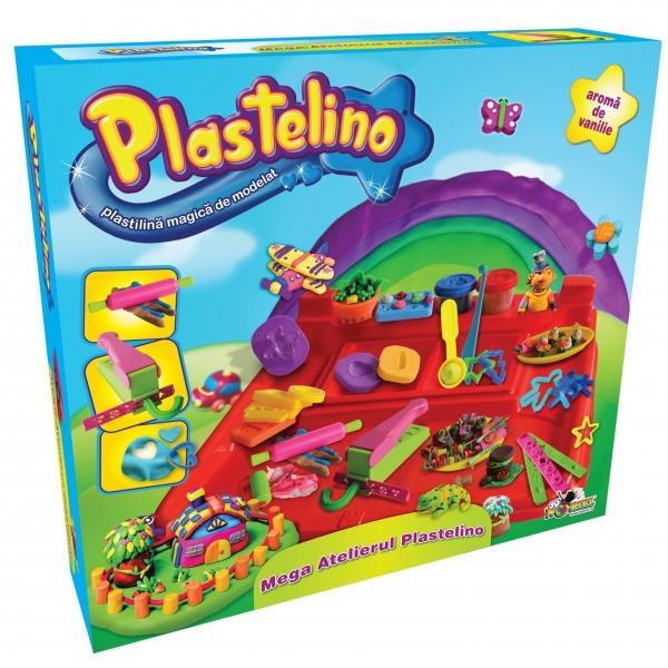 PLASTELINO Plastelino – Mega Atelierul – Set de plastilina
