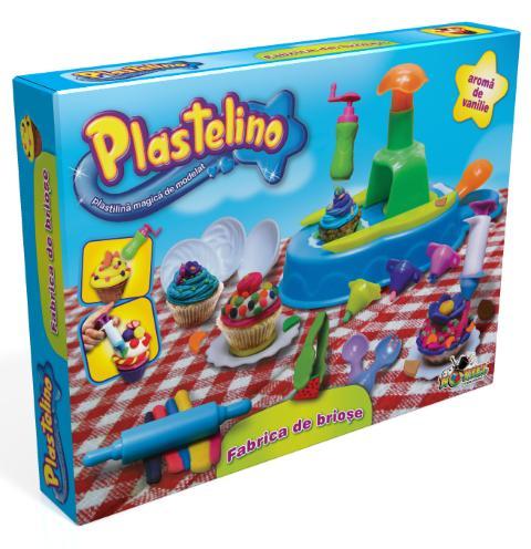 PLASTELINO Plastelino – Fabrica de Briose – Set Plastilina Tematic Mare