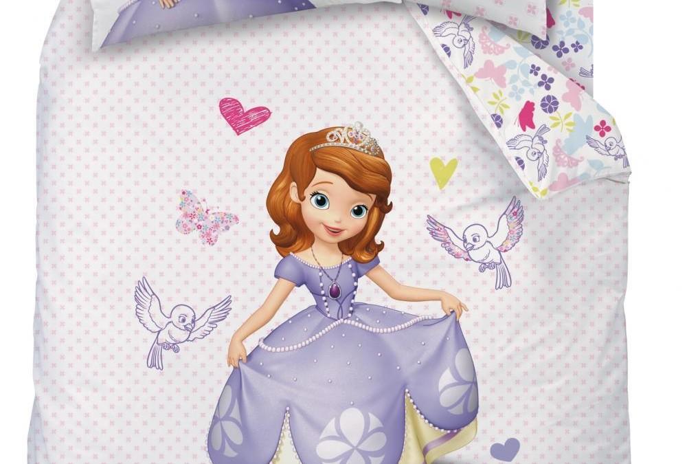 Disney Lenjerie de pat Disney Printesa Sofia Intai 160 x 200 cm