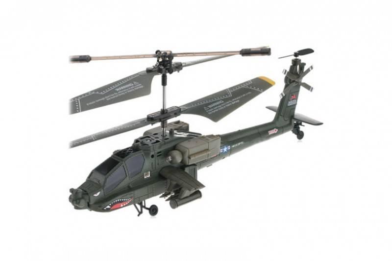 Syma Elicopter cu telecomanda S109G US Army Apache cu Gyro, 3 canale, de interior
