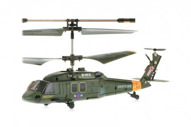 Syma Elicopter Black Hawk UH-60 cu Gyro, 3 canale, de interior Syma S102G