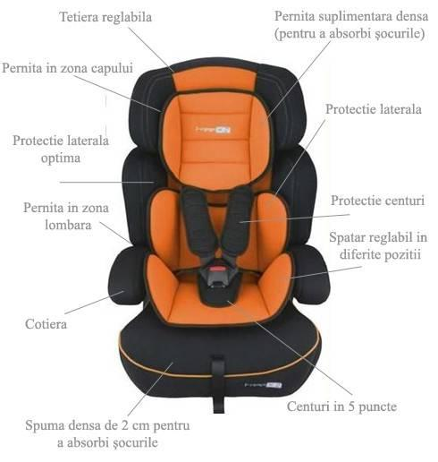 BabyGO Scaun auto FreeMove Orange