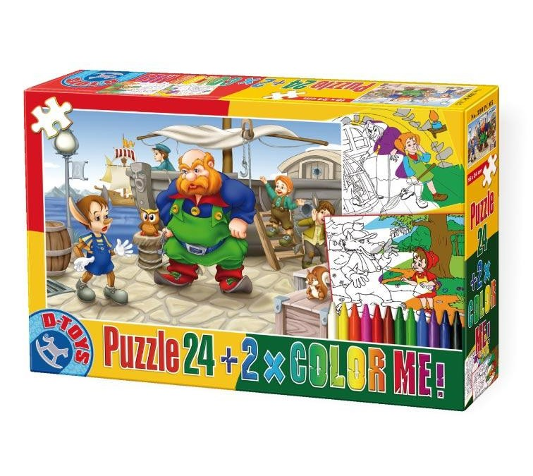 Dtoys PUZZLE 24 COLOR ME BASME 5