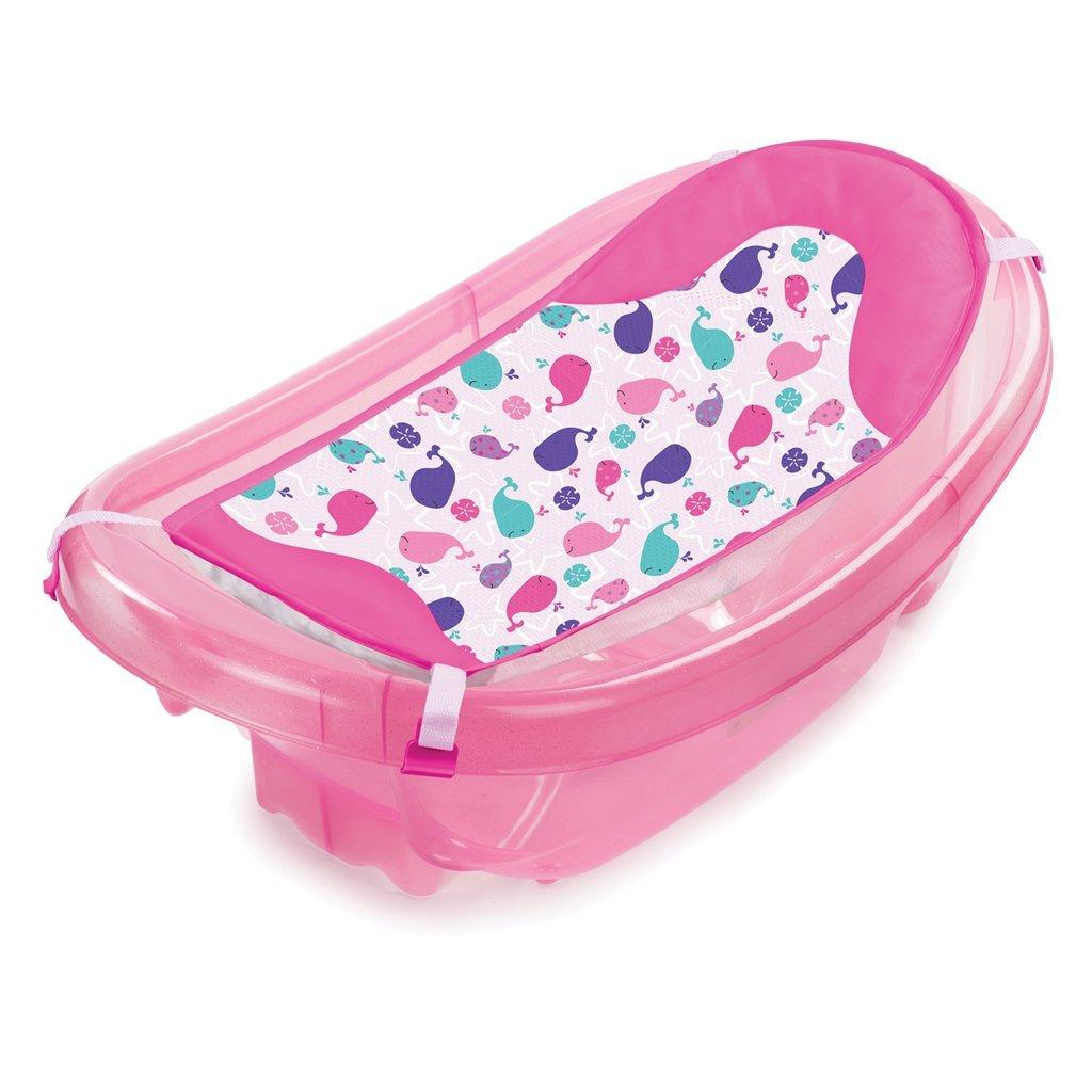 Summer Summer Infant-09376-Set cadita si suport de baita Sparkle and Splash – Pink
