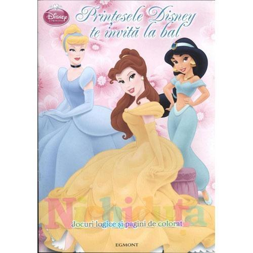 Egmont Carte de Colorat – Printesele Disney Te Invita la Bal