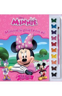 Minnie si prietenii ei – Carte de colorat cu pensula si culori
