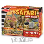 Melissa&Doug Puzzle de podea Safari (100 piese)