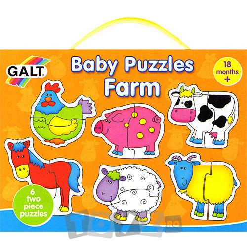 Galt Baby Puzzle: Ferma (2 piese)