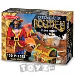 Melissa&Doug Puzzle de podea Comoara piratilor (100 piese)