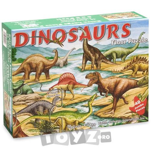 Melissa&Doug Puzzle de podea Dinozauri (48 piese)
