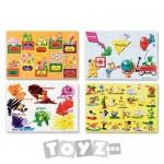 Melissa&Doug Puzzle de podea Educational (12 piese)