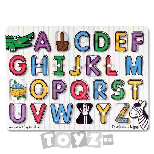 Melissa&Doug Puzzle lemn Alfabet (26 piese)