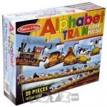 Melissa&Doug Puzzle de podea Trenul alfabet (28 piese)
