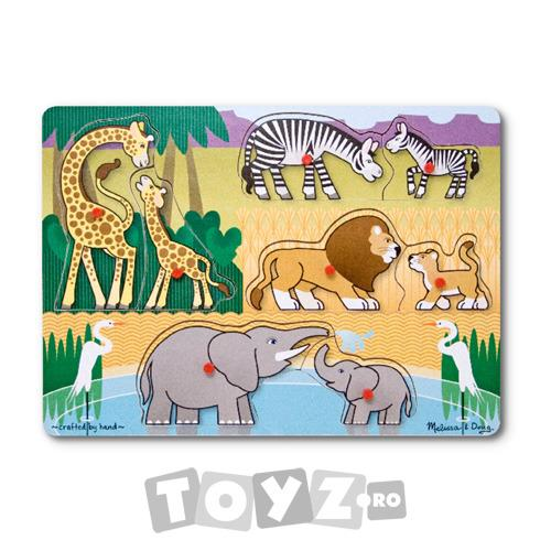 Melissa&Doug Puzzle lemn Safari (8 piese)
