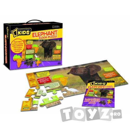 NationalGeographic Puzzle de podea Elefant