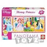 Educa Puzzle Panorama Printesele Disney 100 de piese