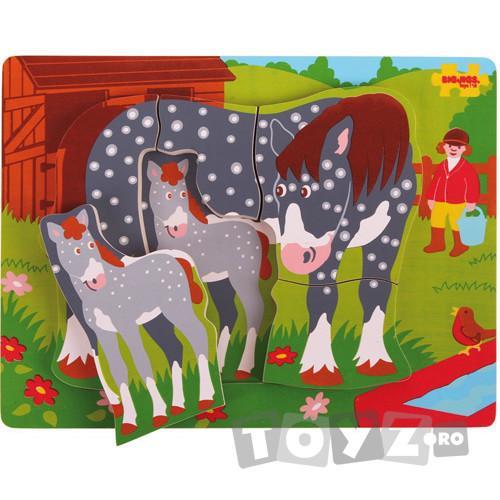 Bigjigs Primul meu Puzzle – Calul si manzul