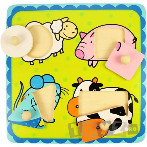 Bigjigs Primul meu puzzle – animale vesele