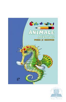 Animale acvatice. Poezii si ghicitori – Carte de colorat