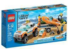 Lego Lego City 4X4 si Barca De Scafandri – 60012