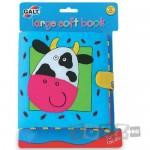 Galt Large Soft Book: Carticica moale Farm Faces